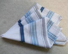 Vintage Handkerchief MENS Hankie NEW Top Pocket Square WHITE BLUE