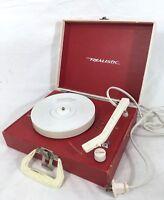 Collectible Vintage Portable Turntable Realistic 13-1115B Radioshack Phonograph