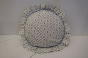VINTAGE Laura Ashley  Pretty,  'Kate' Round Feather Cushion Lovely Condition