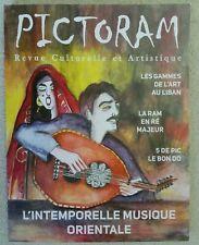 Pictoram Revue Culturelle et Artistique with disc French Lebanese Artist Writer