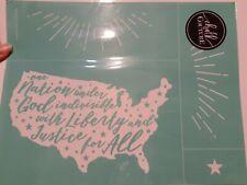 Chalk Couture LIBERTY Transfer Size B 8.5x11 July 4th America USA Pledge