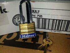 Lock by Master Brass 8KALF (Lot 17) Keyed Alike Matching Identical Long Shackle