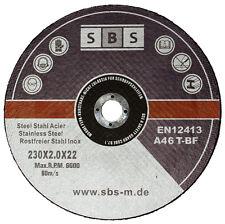 SBS® Inox Trennscheiben 230 x 2,0 mm Flexscheiben 10 Stück