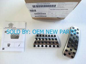2011 - 2019 DODGE CHARGER CHALLENGER CHRYSLER 300 OEM BRIGHT PEDAL COVER KIT
