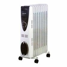 Portable 7 Fin 1500w Electric OIL FILLED RADIATOR HEATER With 3 Heat Settings