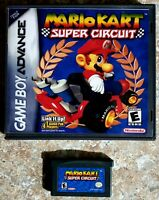 Mario Kart: Super Circuit (Game Boy Advance, 2001) Game and Hard Case
