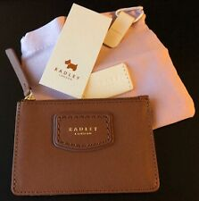 Radley Tan/Brown Leather Coin Purse and Credit Card Holder NEW DUST BAG