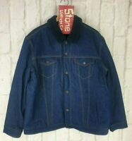 Levis Premium Blue 1967 Type III Sherpa Lined Denim Trucker Jacket £199 New 2XL