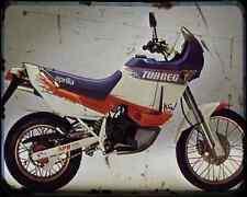 Aprilia Tuareg 600 Wind 89 A4 Metal Sign Motorbike Vintage Aged