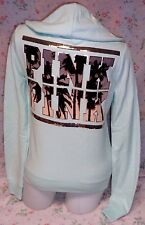 NEW Victoria's Secret Pink BLING Perfect Zip Tropical Hoodie Mint Stylish HTF S