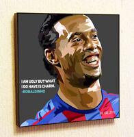 Ronaldinho Soccer Painting Decor Print Wall Art Poster Canvas pop Style