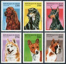 Benin 980-985,MNH.Michel 936-941. Dogs 1997:Irish setter,Saluki,Pincher,Boxer,