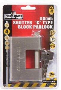 HEAVY DUTY High Security Shutter / Shipping Container Padlock Or Chain Lock 94mm