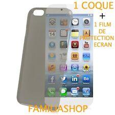 Housse étui pochette coque gris iphone 6 4.7 + 1 film de protection écran