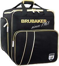 BRUBAKER Ski Boot Bag for Boots, Helmet, Gear and Apparel - Black/Golden