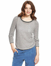 Marks and Spencer Women's stripe Button Jumpers & Cardigans