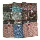 6 Pack Mens Premium Boxers 100% Cotton Underwear Trunk Plaid Shorts Size S~3XL