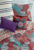Details about  /Scott Living Diamond Quilted Euro Pillow Sham Ivory 100/% Cotton