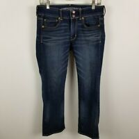 American Eagle Super Stretch Artist Crop Womens Dark Wash Blue Jeans Size 6