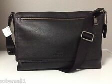 Coach Men's Sullivan Pebble Leather Black Messenger Bag F71645