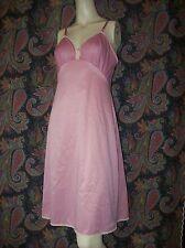 Vintage Vanity Fair Pink Taffeta Lace Slip Lingerie 36
