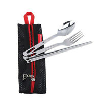 Portable Stainless Steel Tableware Set Spoon Fork Suit Camping Outdoor Supplies