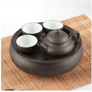 Traditional Chinese Teapot Set Ceramic Clay Loose Leaf Tea Small Maker Cups