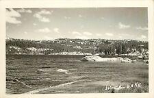 c1940 Real Photo Postcard Silver Lake CA El Dorado Co. High Sierra Nevada Mts
