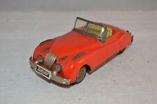 Jaguar M 6158 Tinplate Red Car Tin Litho Japan Friction rare to find