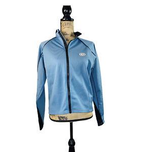 Pearl Izumi Cycling Jacket Top Thermal Warm Full Zip Large Blue Women Soft Shell