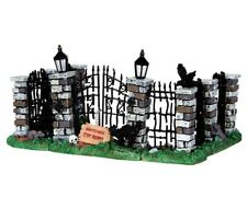 LEMAX - Spooky Iron Gate And Fence / Halloween Spookytown Spooky Town