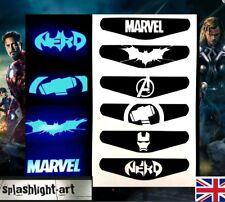 PS4 Controller Light bar Vinyl Sticker 6x Marvel Batman Iron Man THOR Nerd