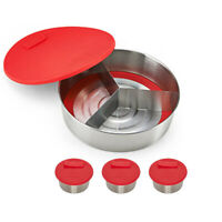Instant Pot Cook/Bake Removable Bottom Round Pan, Divider, Lid and 3 Cups Bundle