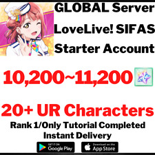 [GLOBAL/EN/WW] [INSTANT] 10200~11200 GEMS   LOVE LIVE SIFAS ALL STARS ACCOUNT