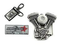 V-Twin Mens Evo Engine Buckle and Fob Set For Harley-Davidson