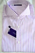 $495 NWT PURPLE LABEL RALPH LAUREN 15.5 eu39 KEATON stripes cotton dress shirt