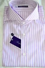 $495 NWT PURPLE LABEL RALPH LAUREN 16 eu41 KEATON stripes cotton dress shirt
