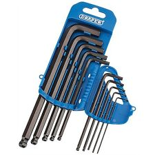 Draper 33716 10pc imperial AF ball end allen hexagon key wrench set 10pc