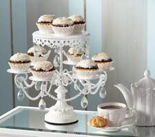Cake Stand Holder Crystal Metal Cupcake Pan Plates Birthday Wedding Party Decor