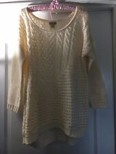 NEW WITH TAG  WOMEN LUCKY BRAND SWEATER COLOR : BEIGE SIZE : L
