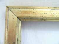 "ANTIQUE FITS 6 X 11"" LEMON GOLD GILT PICTURE FRAME WOOD GESSO FINE ART COUNTRY"