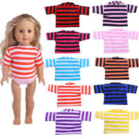 """Hot Handmade Accessories 18"""" Inch American Girl Doll Clothes   Striped T-shirt"""