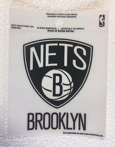 """Brooklyn Nets 3"""" x 4"""" Small Static Cling - Truck Car Window Decal NEW NBA"""