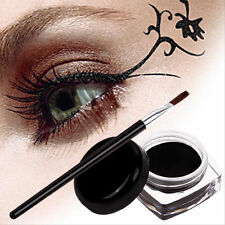Black Eye Liner Eyeliner Shadow Gel Makeup + Brush Waterproof 1Pc