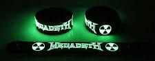 MEGADETH  Glow in the Dark Rubber Bracelet Wristband Symphony Of Destruction