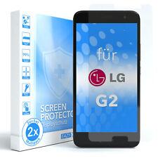 EAZY CASE 2x Glasdisplayschutz für LG G2 Schutzglas Folie Hart Glasfolie 9H