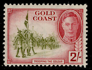 GOLD COAST GVI SG144, 2s sage-green & magenta, NH MINT. Cat £12.