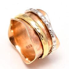 Solid 925 Sterling Silver Meditation ring statement ring Spinner Ring Size sr301