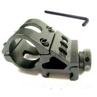 "1"" 25mm Offset Rifle Flashlight Torch Laser Mount 20mm Weaver Picatinny Rail UK"