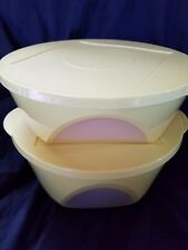 TUPPERWARE CLEAR IMPRESSIONS Window BOWL SET Salad Nesting Serving  Storage